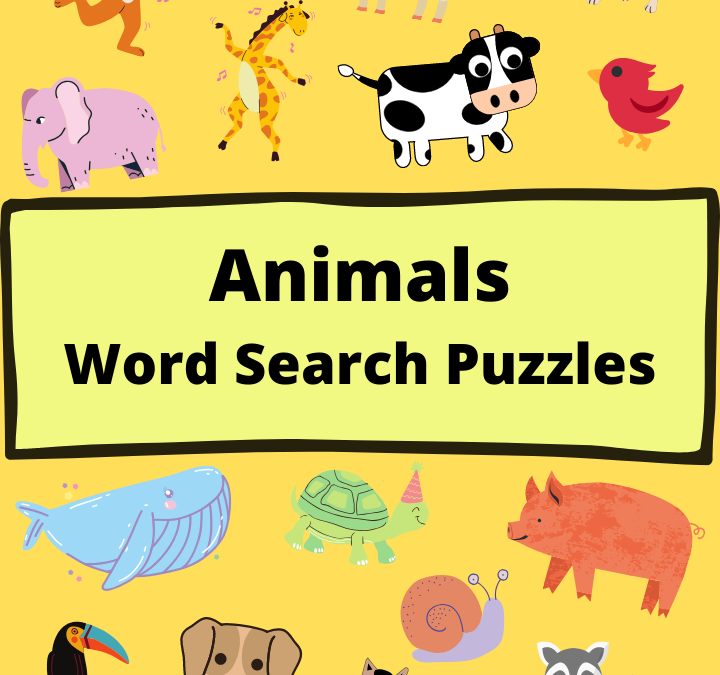 Animals Word Search Puzzles