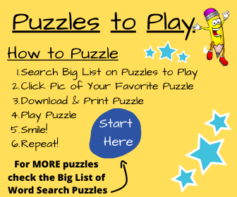 Big List of Word Search Puzzles Instructions