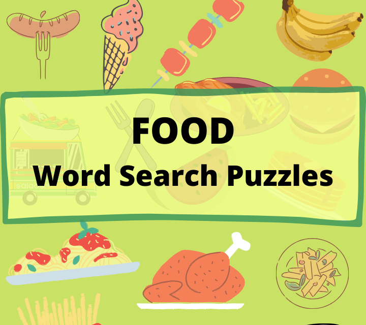 Food Word Search Puzzles