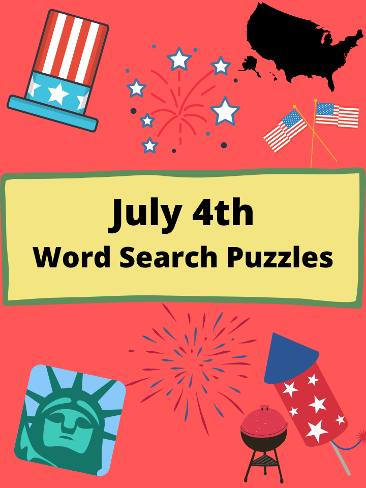 4th of July Word Search Puzzles