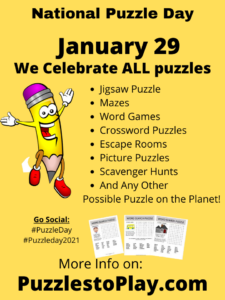 National Puzzle Day 2021