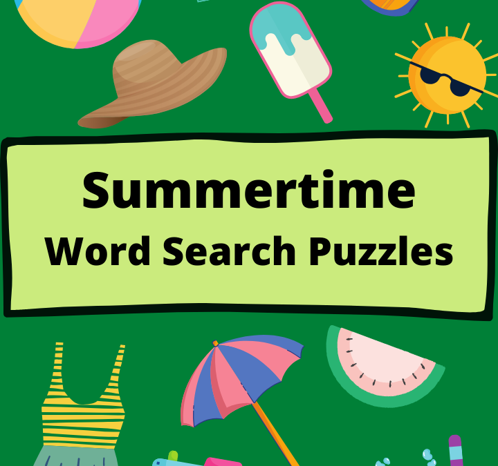 Summertime Word Search Puzzles