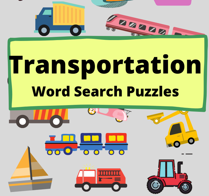 Transportation Word Search Puzzles