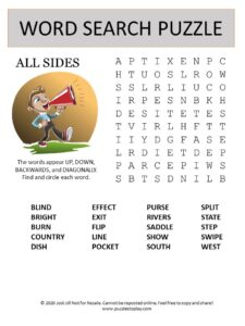 all sides word search puzzle