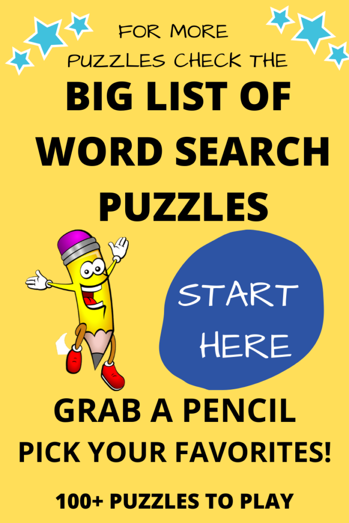 big list of word search puzzles
