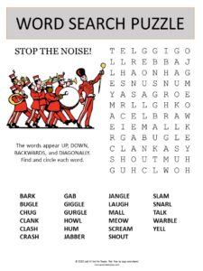 noise word search puzzle photo