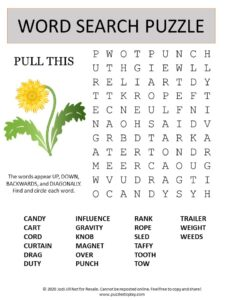 pull this word search puzzle
