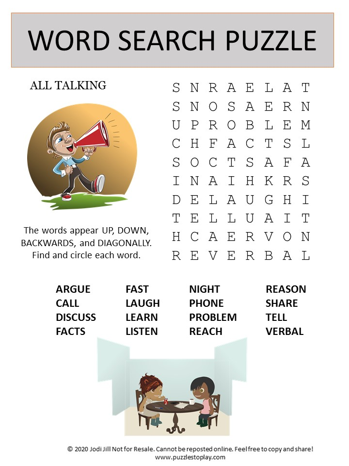talking word search puzzle