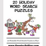Free 20 Holiday Word Search Puzzles