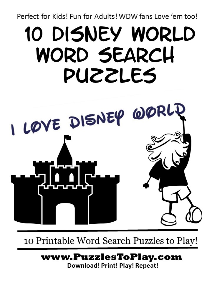 Free disney word search puzzle book