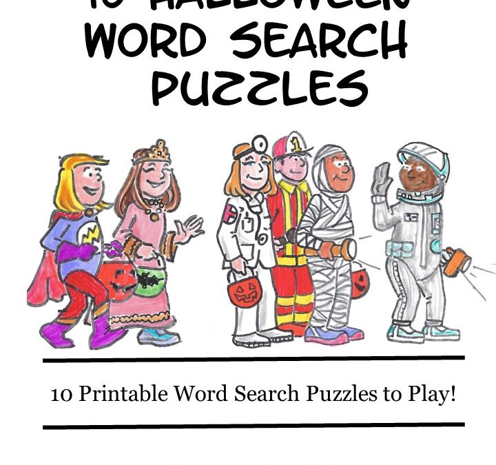FREE 10 Halloween Word Search Puzzles