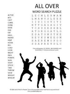 all over word search puzzle