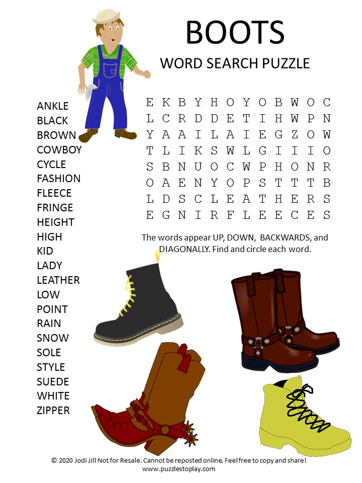 boots word search puzzle