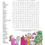 christmas morning word search puzzle