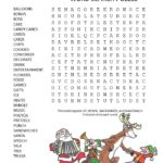 christmas party word search puzzle