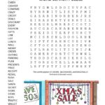 christmas shopping word search puzzle