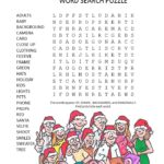 family holiday photo word search puzzle