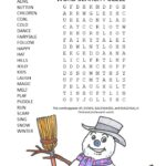 frosty the snowman word search puzzle