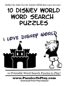 magic kingdom word search puzzle book