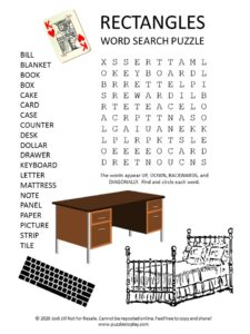 rectangles word search puzzle