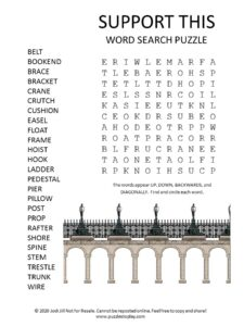 support word search puzzle