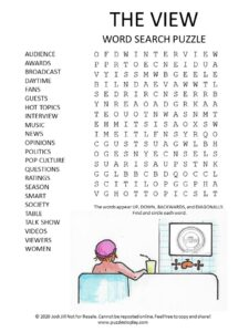 the view today word search puzzle