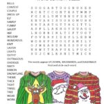 ugly christmas sweater word search puzzle
