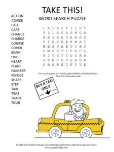 Take this word search puzzle