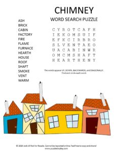 chimney word search puzzle