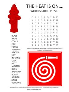 heat word search puzzle