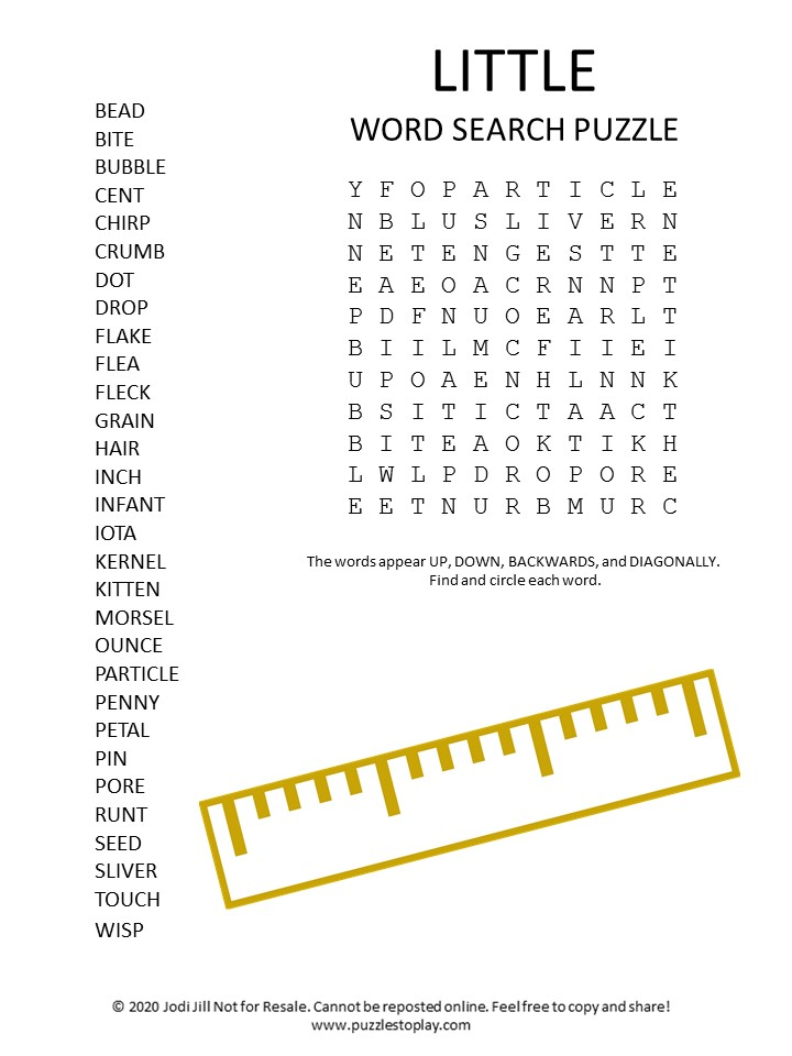little word search puzzle