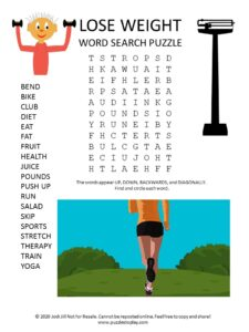 lose weight word search puzzle