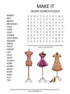 make it word search puzzle