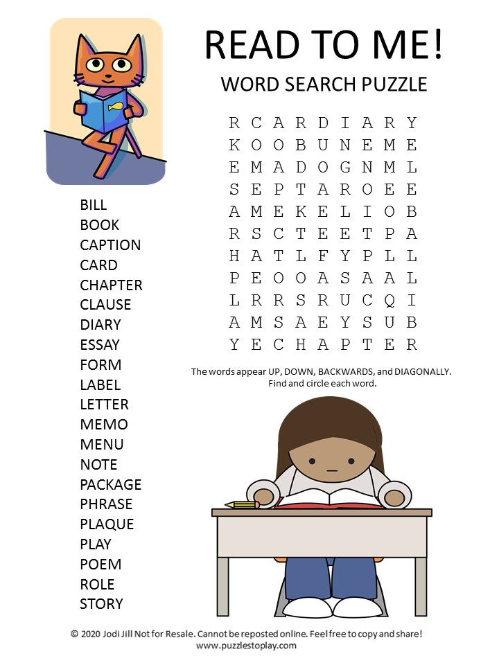 read word search puzzle