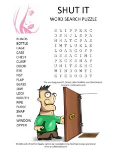 shut word search puzzle