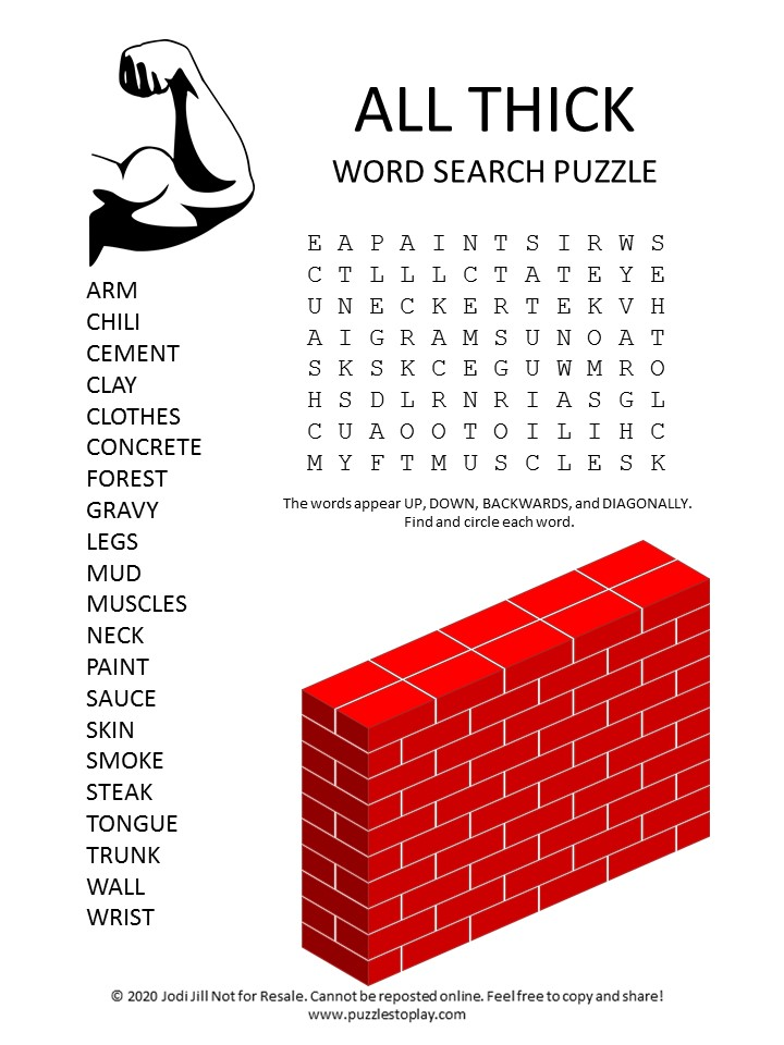thick word search puzzle
