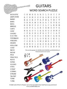 guitar word search puzzle