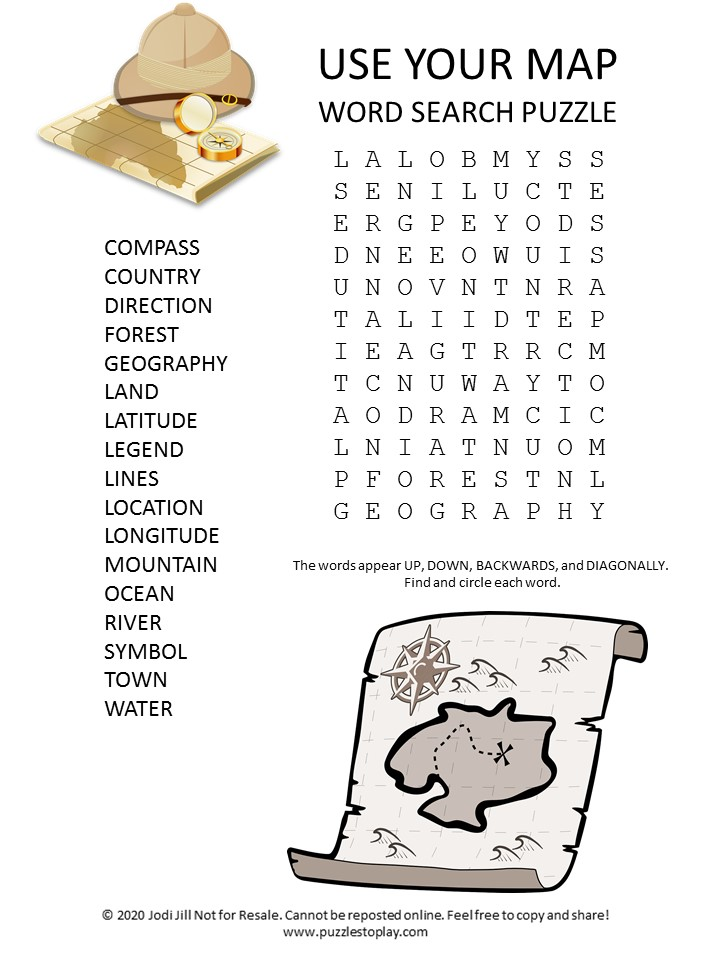 use your map word search puzzle