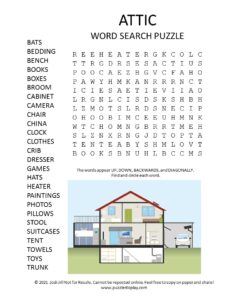 attic word search puzzle