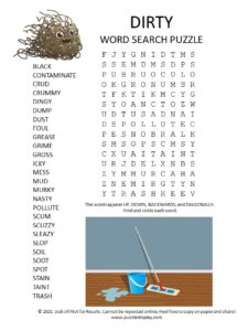 dirty word search puzzle