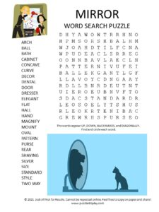 mirror word search puzzle