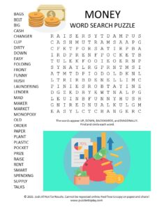 money word search puzzle