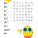 sizzling summer word search puzzle