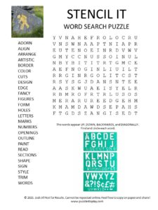 stencil word search puzzle