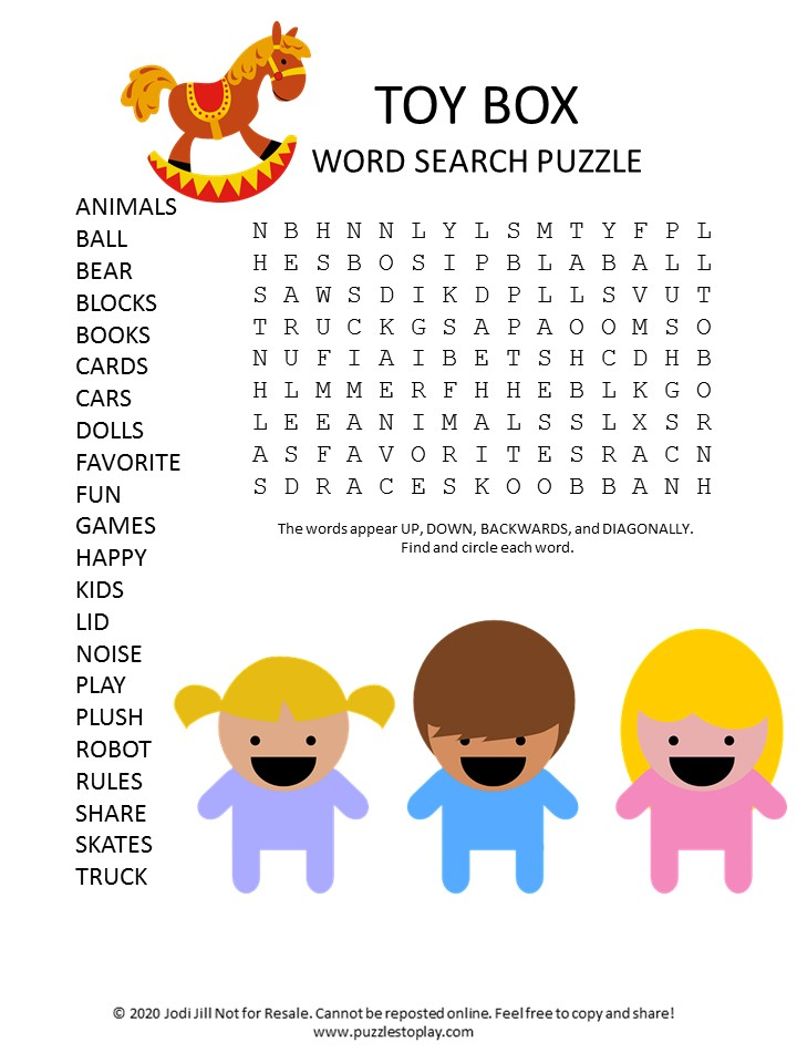 toy box word search puzzle