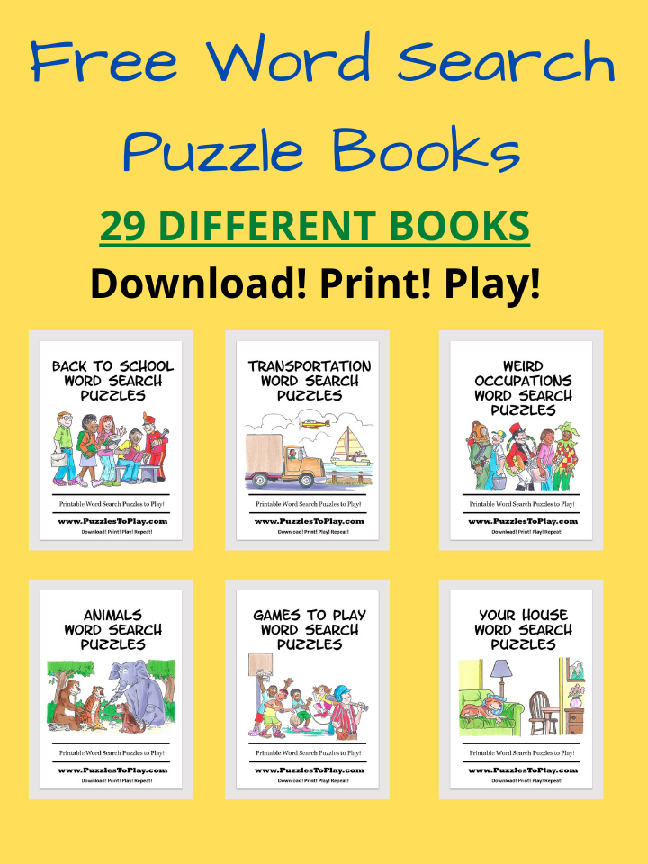 Free Download PDF Word Search Puzzle Books