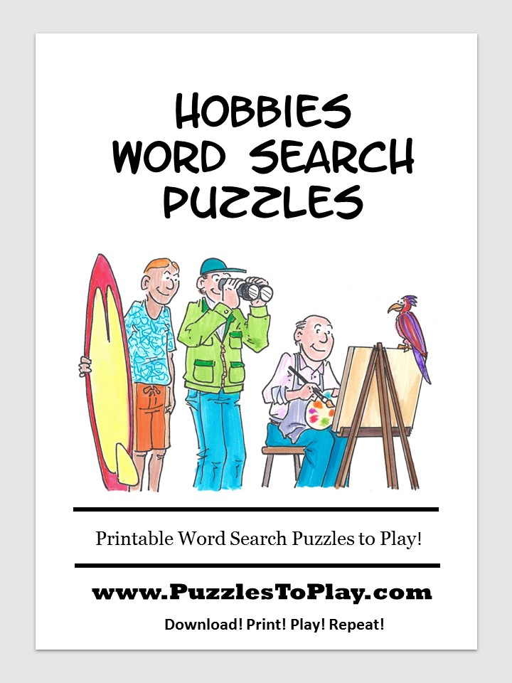 Hobbies word search free download puzzle