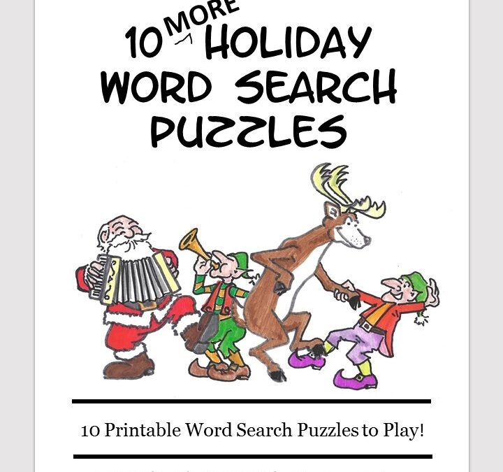 Holiday and Christmas word search puzzle book for kids