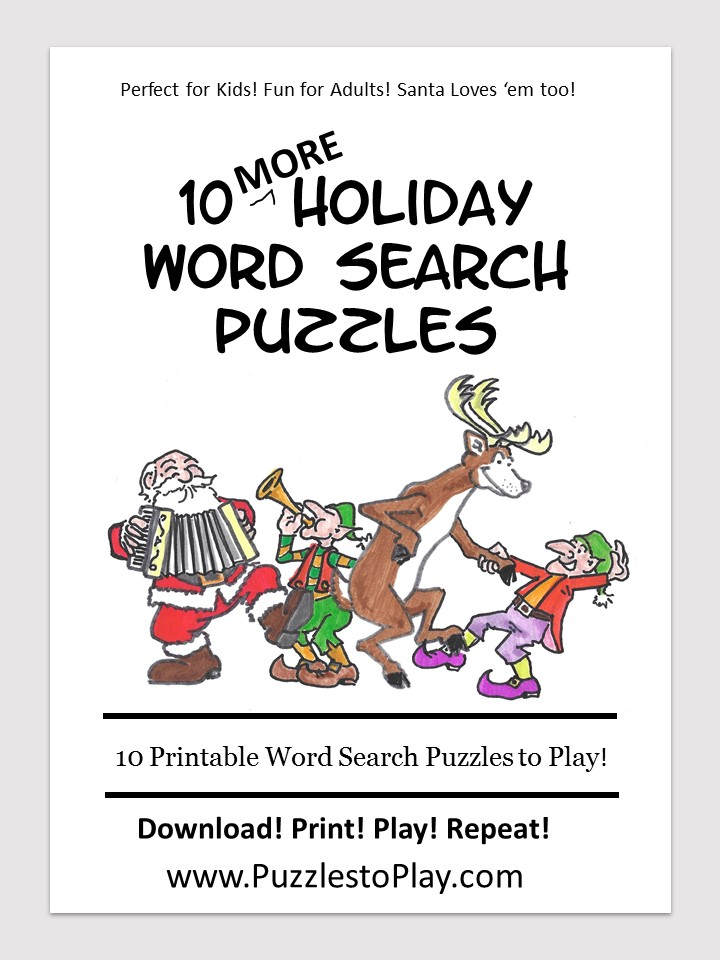 Holiday & Christmas word search puzzle book for kids Volume 2