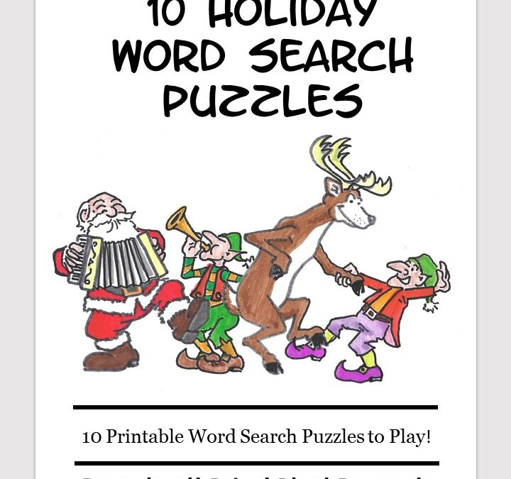 Christmas word search puzzle book for kids